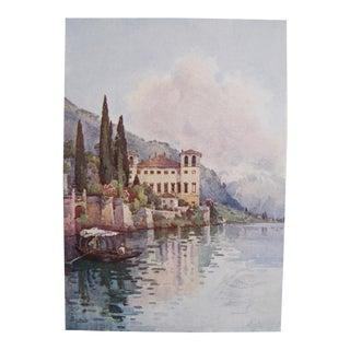 1905 Ella du Cane Print, Gravedonna, Lago di Como