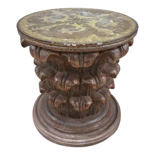 Italian Capital Side Table