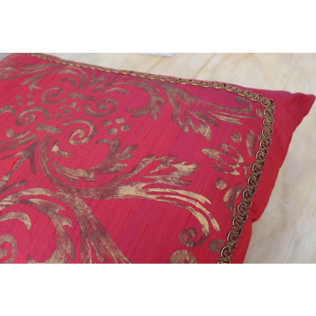 Isabelle H. Fortuny Style Hand-Painted Cherry Pillow Cover - Image 5 of 8