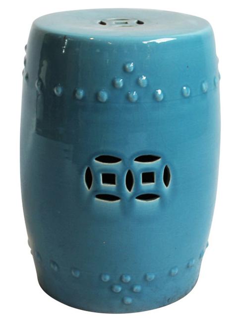 Vintage Used Blue Garden Stools Chairish
