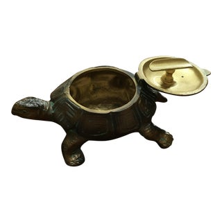 Austrian Gilt Metal Turtle Ashtray