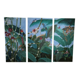 Tropical Paradise Paintings - Set of 3
