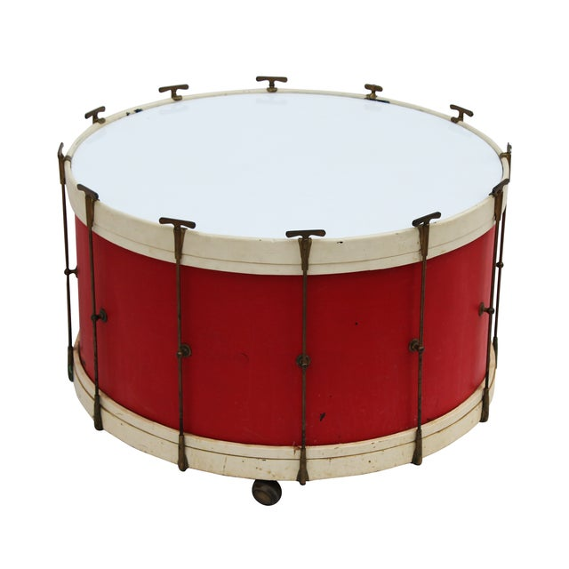 Round Drum Table on Casters - Image 2 of 6
