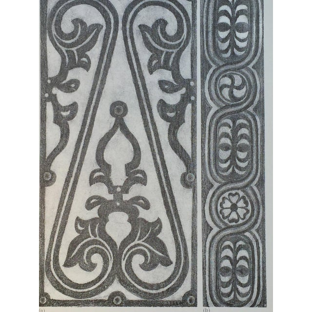 1906 English Photo-Tints, Charcoal Rubbings of Woodcarving - a Pair - Image 8 of 11