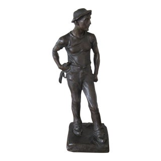 Antique Austrian Bronze Figure