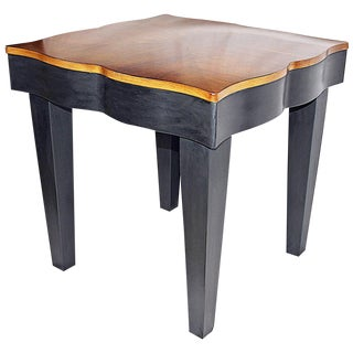 Parquetry Top Maple Side Table