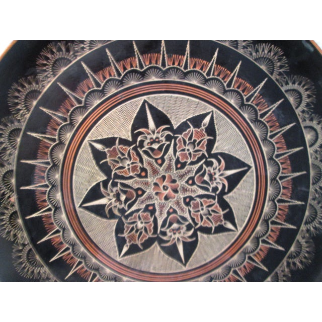Vintage Moroccan Large Etched Copper Tray - Image 3 of 6