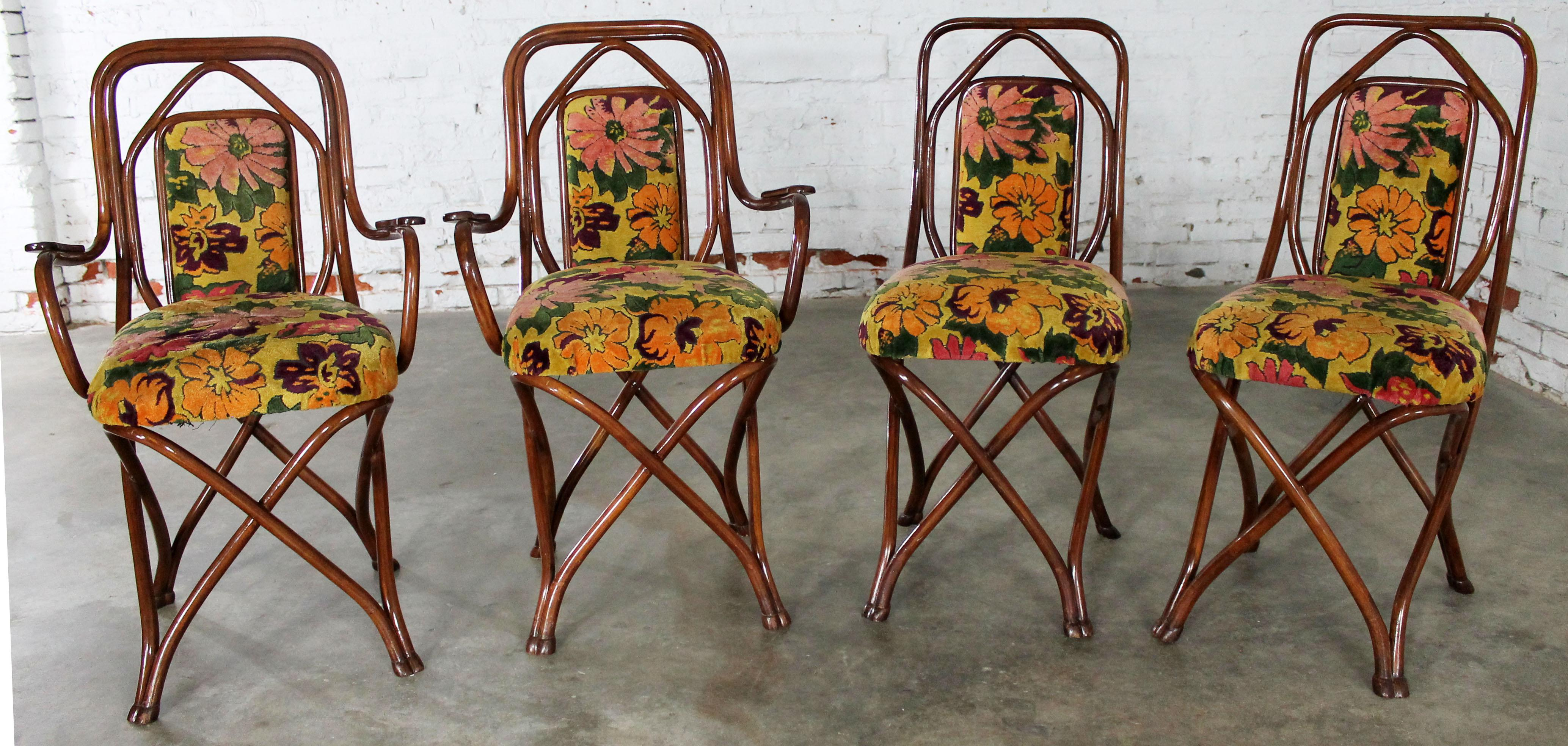 Antique Gebruder Thonet Bentwood Chairs   Set Of 4   Image 8 Of 11