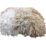 Image of Fringe Wool 1960's Pillow