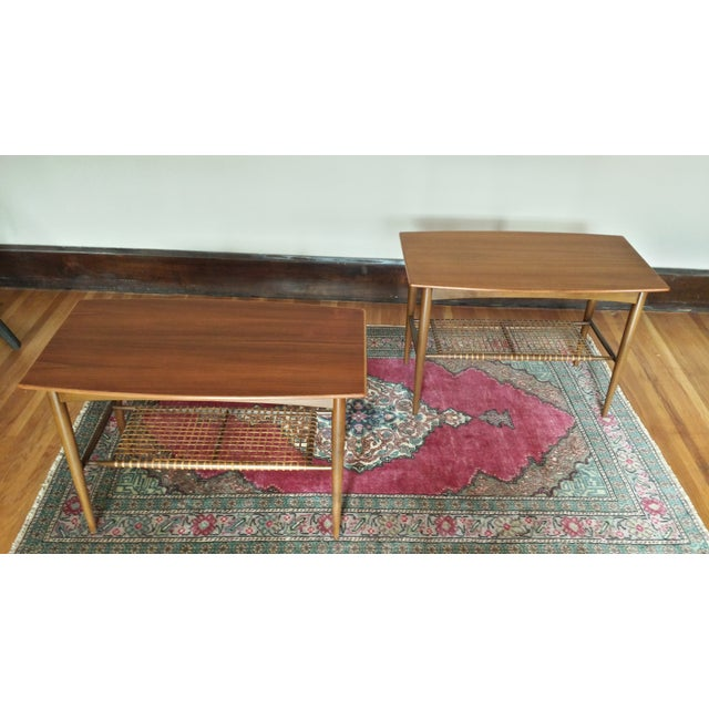 Dux Two - Tier End Tables - A Pair - Image 2 of 8