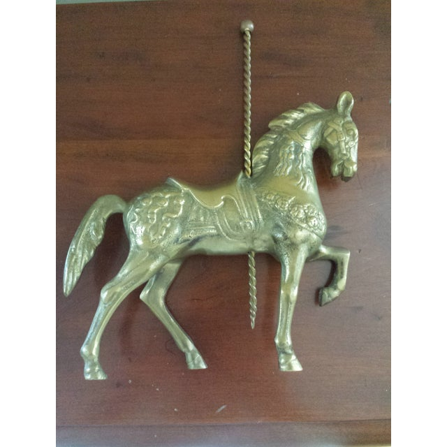 Brass Carousel Horse - Image 2 of 8