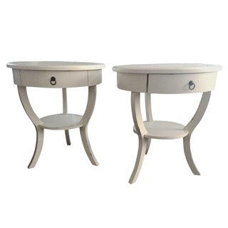 Pottery Barn White Nightstands - A Pair