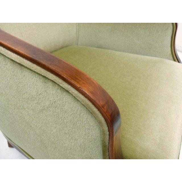 Ward Bennett Mohair Club Chairs - Pair - Image 9 of 10