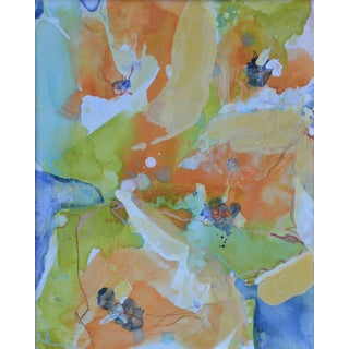 "Liz Barber Leventhal ""Buttercups 11"" Mixed Media Painting"