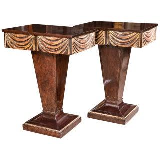 Grosfeld House Hollywood Regency End Tables - Pair