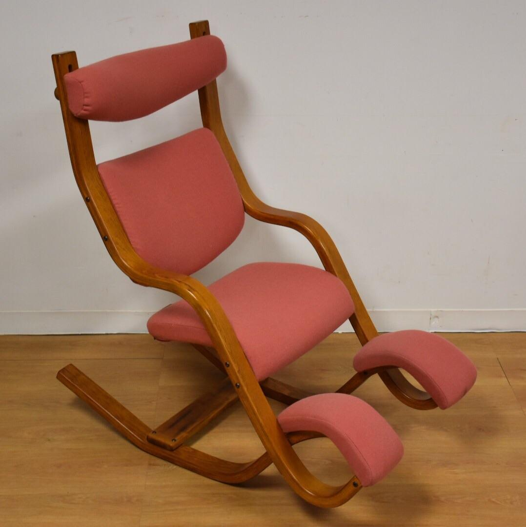 Mid Century Style Bentwood Pink Lounge Chair