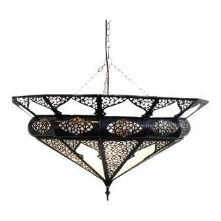Moroccan Metal Work Dish Lamp