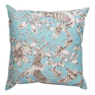 Blue Bird & Floral Pillow