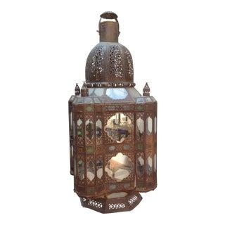 Massive Moroccan Tole Lantern