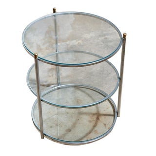 Vintage Three-Tier Glass Top Table