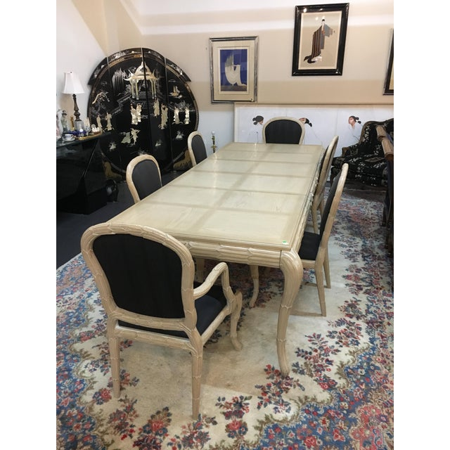 Washed Wood Dining Table & Chairs - Set of 7 - Image 2 of 7