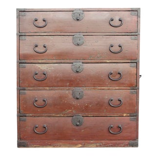 Japanese Ishou Tansu Clothing Chest