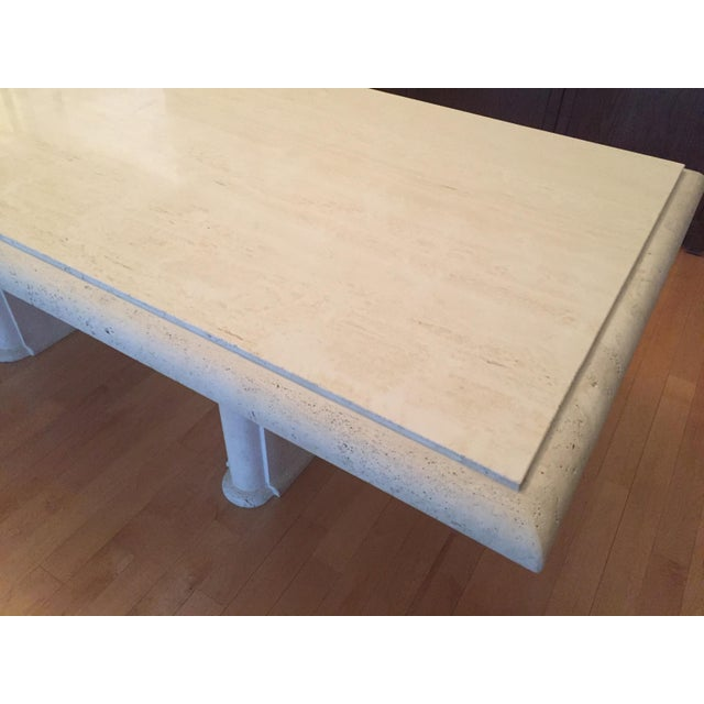 Kreiss Travertine Dining Table - Image 9 of 11