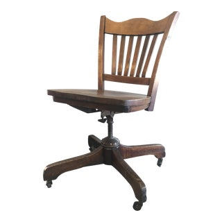 Early 20th Century Oak Office Chair
