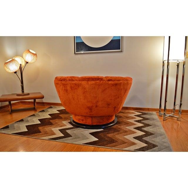 Image of 1970s Milo Baughman Style Swivel Lounge Chair