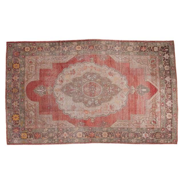 "Distressed Oushak Carpet - 7'6"" X 12'6"" - Image 1 of 10"