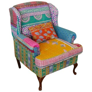 Bohemian Style Wingback Chair