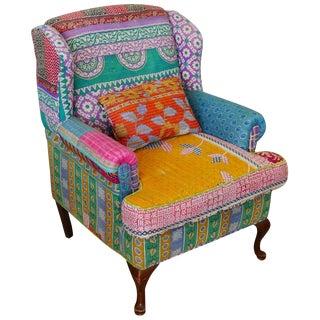 Bohemian Style Wingback Chair