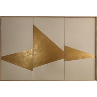 """Gold On Point Triptych - JET0442"" Original Acrylic Painting by Jason Trotter"