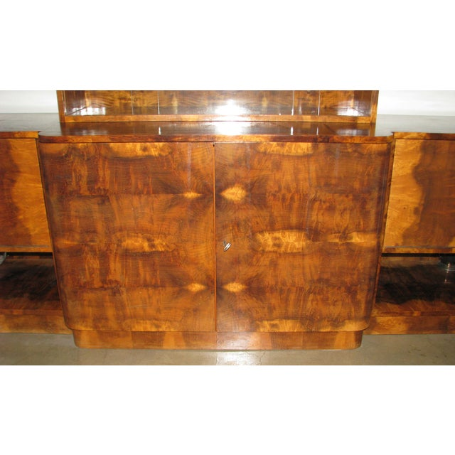 French Art Deco 2-Tiered Paldao Burlwood Sideboard - Image 9 of 11