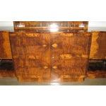 Image of French Art Deco 2-Tiered Paldao Burlwood Sideboard