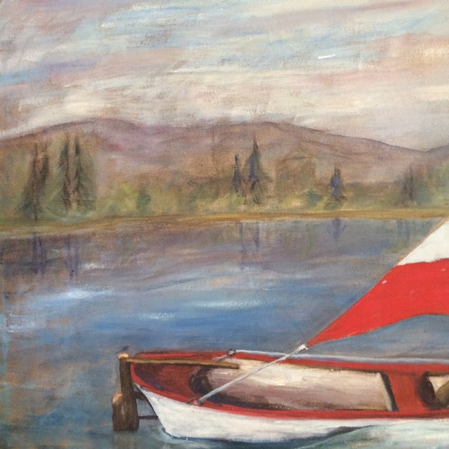 Vintage Mid-Century Sailboat Painting - Image 4 of 4