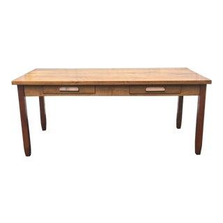 Large Vintage Modern 2-Drawer Desk