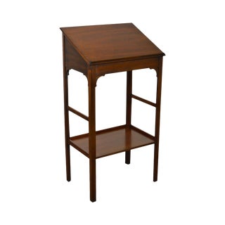 Madison Square Solid Mahogany Chippendale Style Lift Top Lectern or Bookstand