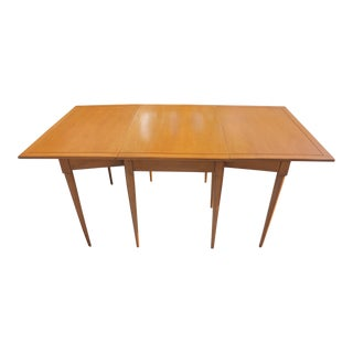 Teak Wood Drop Leaf Dining Table