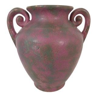 Vintage Burley-Winter Double Coil Handled Vase