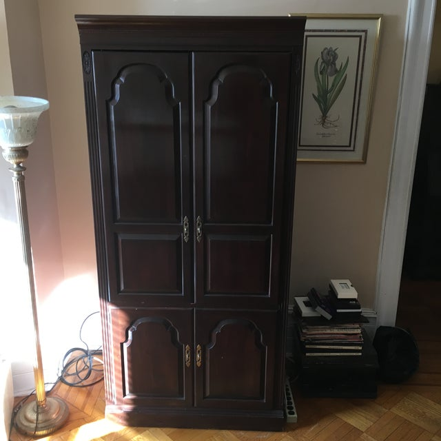 Ethan Allen Georgian Court Cherry Armoire - Image 2 of 5