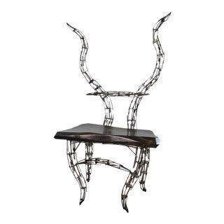 Jason Startup Sculptural Borgantula Reclaimed Metal & Wood Horn Chair