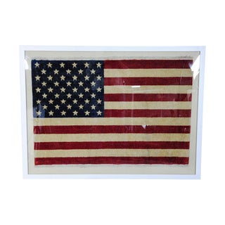 Vintage Framed U.S.A. Flag