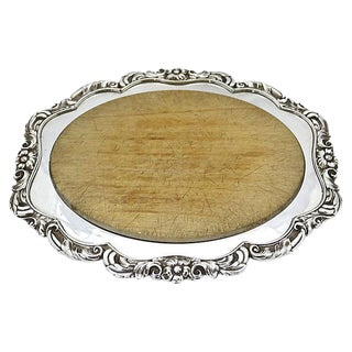 English Silver-Plate Cheese/Bread Board
