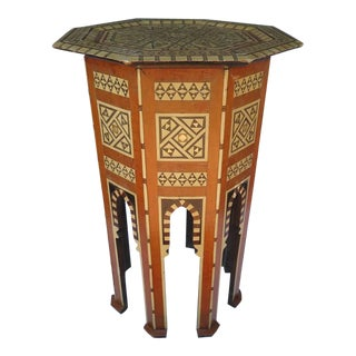 Beautiful 19th Century Mother of Pearl Moroccan Side Table