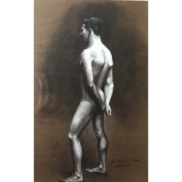 Standing Male Nude by Thad Leland, Mid Century - Image 1 of 4