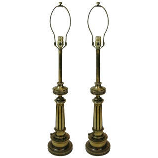 Pair of Federal Style Stiffel Brass Lamps
