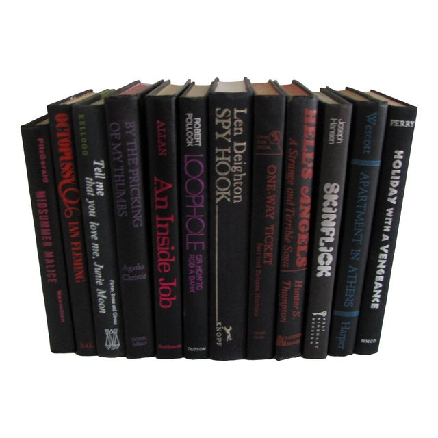 Image of Decorative Black Book Collection - Set of 12