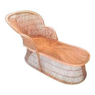 Vintage Mid-Century Rattan Chaise