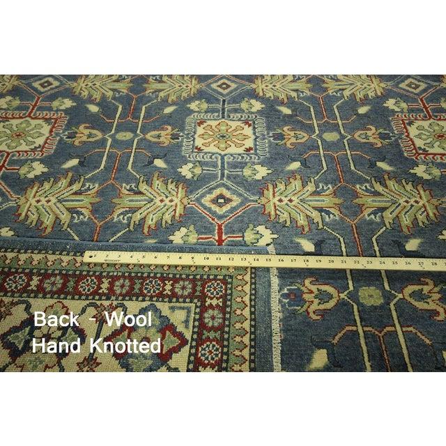 """Image of Blue & Ivory Kazak Oriental Rug - 8'2"""" X 11'3"""""""